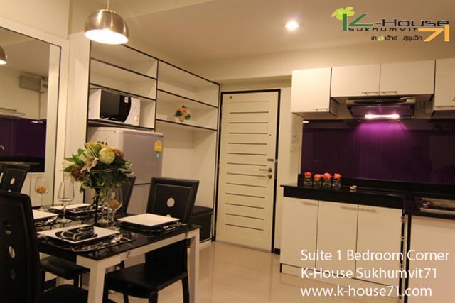 K-House Sukhumvit 71 Apartment near Suvarnabhumi Airport @Motorway, Phattanakan Road near BTS Prakanong station Sukhumvit 71 Road Tel.088-5245959